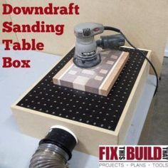 Cool Woodworking Tips - DIY Downdraft Sanding Table Box - Easy Woodworking Ideas, Woodworking Tips and Tricks, Woodworking Tips For Beginners, Basic Guide For Woodworking http://diyjoy.com/diy-woodworking-tips