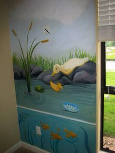 1000 images about frogs on pinterest murals ponds and for Duck pond mural