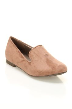 Breckelle's Jojo-01 Faux Suede Flats in Blush - Beyond the Rack