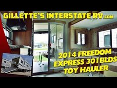 2014 FREEDOM EXPRESS 301BLDS TOY HAULER TRAVEL TRAILER BY COACHMEN RV --- Gillettes Interstate RV Rv Videos, Toy Hauler Travel Trailer, Coachmen Rv, Freedom, Youtube, Liberty, Political Freedom