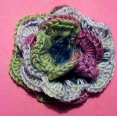 """Spring Flower"" hand crocheted by Willowsilk."