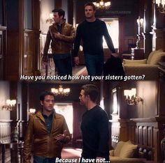 This is so weird now that I know he's Thea's half brother.