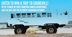 We've teamed up with Frontiers North Adventures and Via Rail for the ultimate Canadian getaway! http://woobox.com/h8nq88/j2ltx0