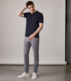 At REISS you will find the best mens fashion clothing. We have lots of popular styles available for the modern man. Smart Casual Men, Smart Casual Outfit, Stylish Mens Outfits, Style Casual, Casual Wear, Casual Outfits, Style Men, Business Dress, Polo Shirt Outfits