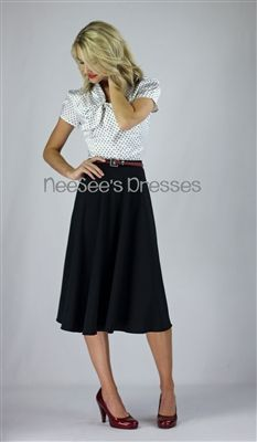 Crepe Mid Length Skirt by Mikarose Fall 2013 | Modest Skirt | Mikarose