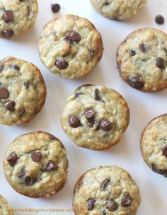The Baking ChocolaTess | Perfect Banana Chocolate Chip Muffins! Fluffy and Moist! | http://www.thebakingchocolatess.com