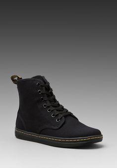 DR. MARTENS Shoreditch 7-Eye Sneaker in Black at Revolve Clothing