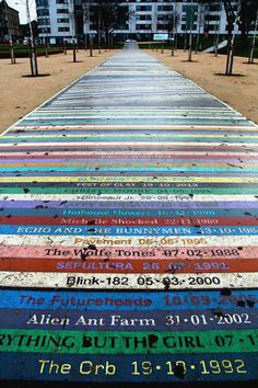 This 328-foot-long path at the new Barrowland Park names more than 2,000 bands along with the date they performed at Glasgow's iconic concert venue, Barrowland Ballroom.