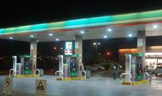 HITECNICO 80W LED Canopy Lights Recessed Mounted successful project in Mexico petrol station lighting.