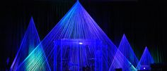 Beams of Strings - Church Stage Design Ideas