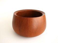 Dansk Teak Wood bowl Wood Bowls, Teak Wood, Serving Bowls, I Shop, Tableware, Vintage, Wooden Bowls, Dinnerware, Tablewares