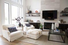 living room remodel;