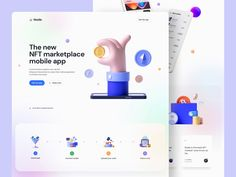 Node – NFT Marketplace 🤑 by Tran Mau Tri Tam ✪ Ios Ui, Web Project, Ui Design Inspiration, Ui Kit, Light In The Dark, Mobile App, Custom Design, Landing
