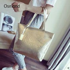 Hot Summer Women Handbags Crocodile Embossed Pu Leather Shoulder Bags Lady Casual Totes Large Shopping Sling Bag Bolsa Brand New
