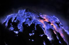 AMAZING:Blue Lava Flows From Rare Volcano...  Source: http://sploid.gizmodo.com/spectacular-blue-lava-flows-at-this-indonesian-volcano-1498816568/@Casey Chan