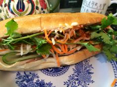 Bahnmi Vietnamese style sandwich. Visit www.foodyholic.com for the recipe