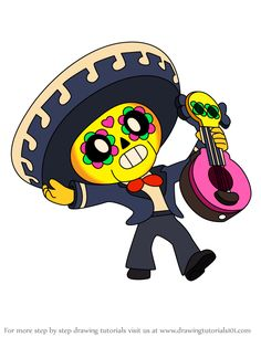 Learn How to Draw Poco from Brawl Stars (Brawl Stars) Step by Step : Drawing Tutorials Star Wallpaper, Marvel Wallpaper, Valentines Day Drawing, Star Character, Romantic Gestures, Star Art, Step By Step Drawing, Cute Images, Love Pictures