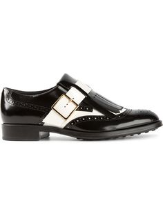 Shop Tod's contrast buckled brogues in Parisi from the world's best independent boutiques at farfetch.com. Over 1000 designers from 60 boutiques in one website.