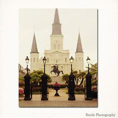 20 Off Sale  New Orleans Art St. Louis Cathedral by Briole on Etsy, $24.00