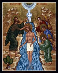 Jesus' #Baptism - (note tree with axe).  First Sunday after #Epiphany.