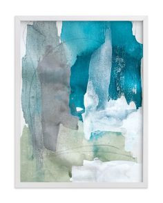 """""""Sea Glass No. 2"""" - Art Print by Julia Contacessi in beautiful frame options and a variety of sizes."""