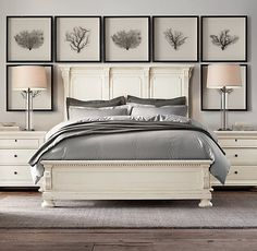 St. James Queen Bed in Antiqued White from Restoration Hardware