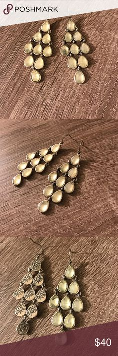 NWOT Lucky Brand Raindrop Earrings I bought these to wear to prom and ended up wearing another pair but had already removed the tag. Jewelry Earrings