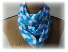 Infinity Scarf  Chevron Turquoise Scarve  Loop by UrbanScarfs