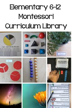Montessori printable resources for elementary 6-12 year old children