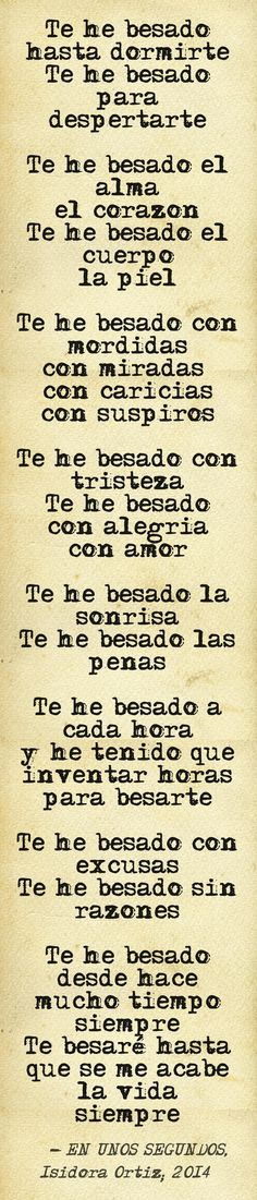 Poema propio escrito en tan sólo unos segundos, luego de que el amor de mi vida me besara, para reconciliarnos por una discusión tonta... This quote courtesy of @Pinstamatic (http://pinstamatic.com)