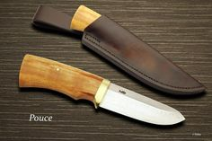 Damascus, Fossil walrus ivory knife by Pekka Tuominen