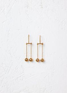 Dot Mobile Earrings in Brass - Céline