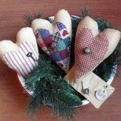 Primitive Valentine Love Letter and Heart Bowl Fillers  SnowmanCollector  #thecraftstar