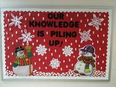 Great winter bulletin board - 3D snow  Our knowledge is piling up!!!
