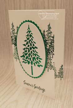 Stamped Christmas Cards, Simple Christmas Cards, Christmas Tree Cards, Stampin Up Christmas, Christmas Minis, Xmas Cards, All Things Christmas, Winter Cards, Couture