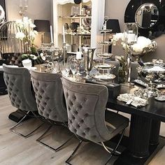 remodel home before and after Luxury Dining Room, Beautiful Dining Rooms, Dining Room Design, Dining Room Chairs, Simply Home, Dinner Room, Luxurious Bedrooms, Home Fashion, Traditional House
