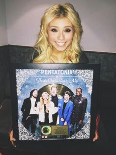 Kirstie looking like she is just  elated over their first Gold Album! #PTXGotGold 12-4-2014