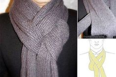 15 ways to transform your scarf in 7 minutes. Ways To Wear A Scarf, How To Wear Scarves, Tie Scarves, Look Fashion, Fashion Beauty, Fashion Tips, Fashion Trends, Scarf Knots, Scarf Styles
