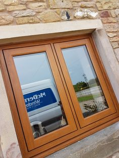 in Golden Oak with Solidor Aluminium Doors, Golden Oak, Windows, Home Decor, Aluminum Gates, Decoration Home, Room Decor, Interior Design, Home Interiors