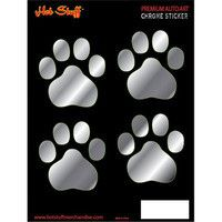 Automotive Accessories - Paw Print Stickers, Chrome