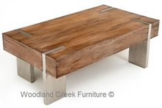 Block Coffee Table Available in a Variety of Wood Species & Finishes. Also, available any length or width desired.