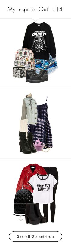 """My Inspired Outfits [4]"" by demiwitch-of-mischief ❤ liked on Polyvore featuring Hot Topic, Vans, MINKPINK, Big Boss, Pink Mascara, Therapy, Topshop, Yves Saint Laurent, H&M and Chicnova Fashion"
