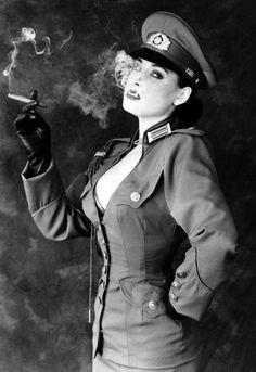 Dieselpunk:  #Dieselpunk fashion, worn by Dita Von Teese.