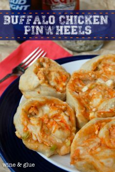 Buffalo Chicken Pinwheels | Delicious Buffalo Chicken flavor all rolled up and delivered in a pizza pinwheel appetizer!