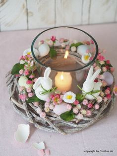 Easter Bunny in the Grass Spring Wreath for our Easter Mantel Easter Tree Decorations, Easter Wreaths, Table Decorations, Diy Spring Decorations, Easter Table, Easter Eggs, Easter Bunny, Diy Osterschmuck, Easter Flower Arrangements