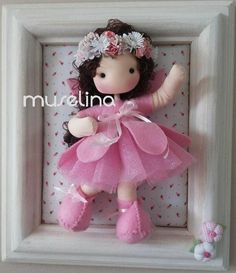 Baby Crafts, Felt Crafts, Diy And Crafts, Fabric Dolls, Paper Dolls, Felt Dolls, Baby Dolls, Baby Decor, Nursery Decor