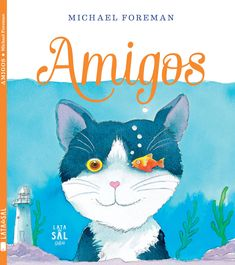 Sue E. Recommends: Friends by Michael Foreman. While a cat wanders wild and free, his friend Bubble the fish swims in circles in a bowl, until the cat decides to give Bubble a taste of freedom. Tapas, Teen Friends, Library Card, Chapter Books, Stories For Kids, Conte, New Books, Childrens Books, Pikachu