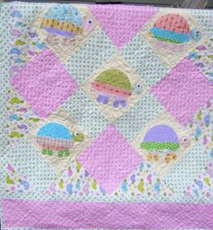 baby quilts turtles | turtle baby quilt | Crafts and such