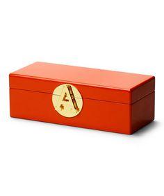 Look what I found on #zulily! Orange Monogram Jewelry Box #zulilyfinds
