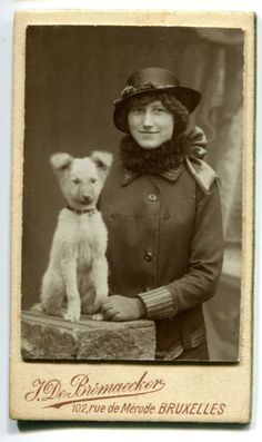 Lady Belgian Shepherd Dog Pup 1900s Very Small Size CDV Photograph | eBay
